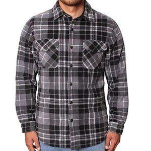 Freedom Foundry Men's Plaid Fleece Jacket Shirt